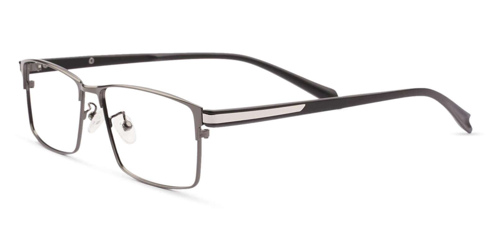 Ryan Black Titanium Eyeglasses , NosePads Frames from ABBE Glasses