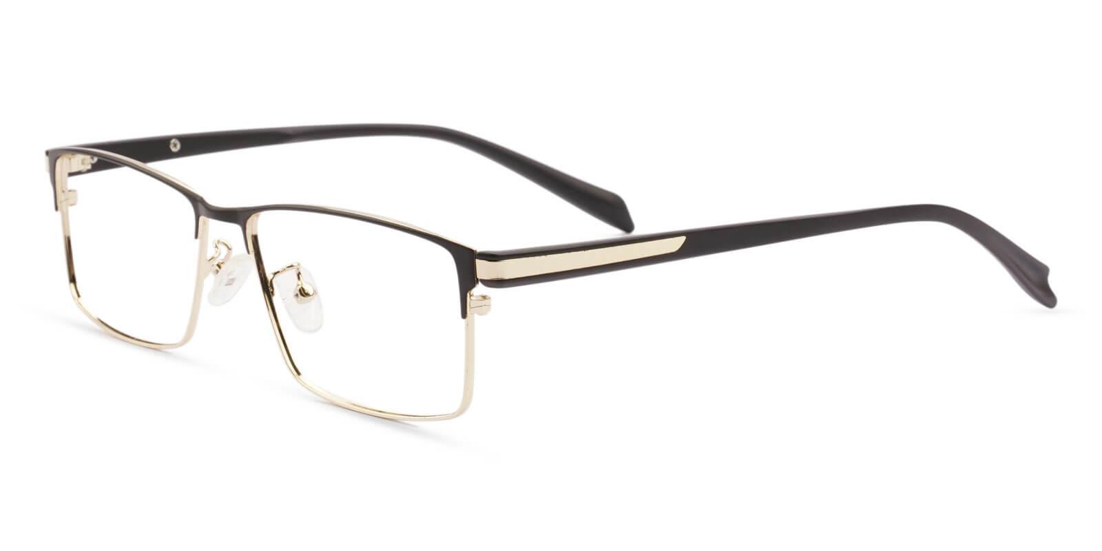 Ryan Gold Titanium Eyeglasses , NosePads Frames from ABBE Glasses