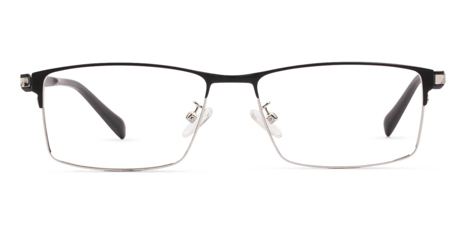 Ryan Silver Titanium Eyeglasses , NosePads Frames from ABBE Glasses