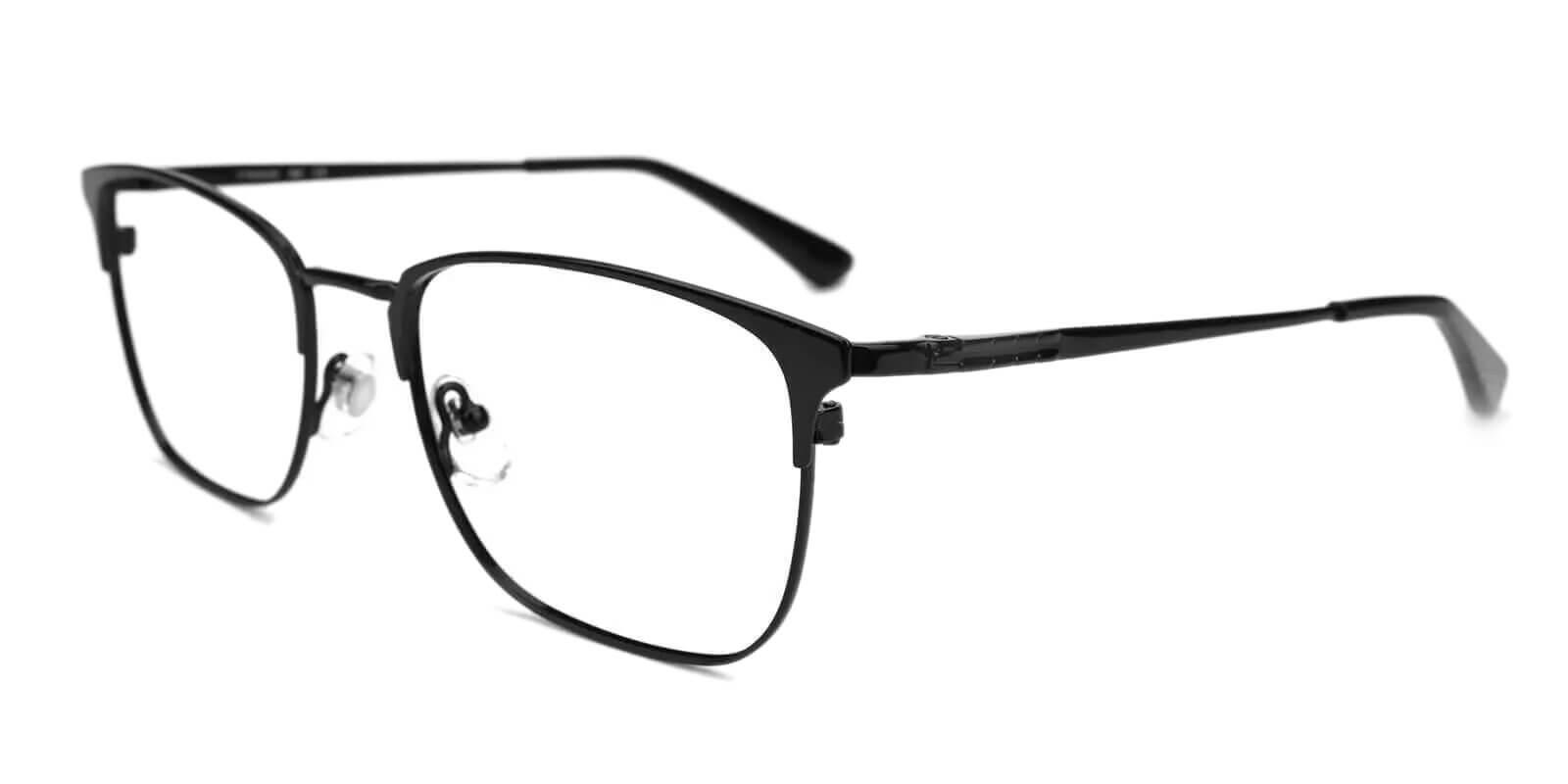 Nathan Black Titanium NosePads , Eyeglasses , Lightweight Frames from ABBE Glasses