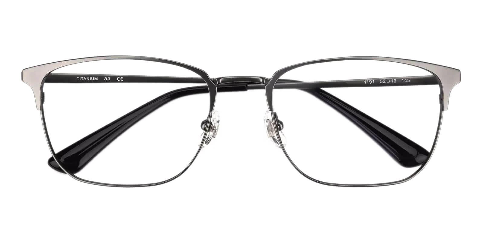 Nathan Gun Titanium Eyeglasses , Lightweight , NosePads Frames from ABBE Glasses