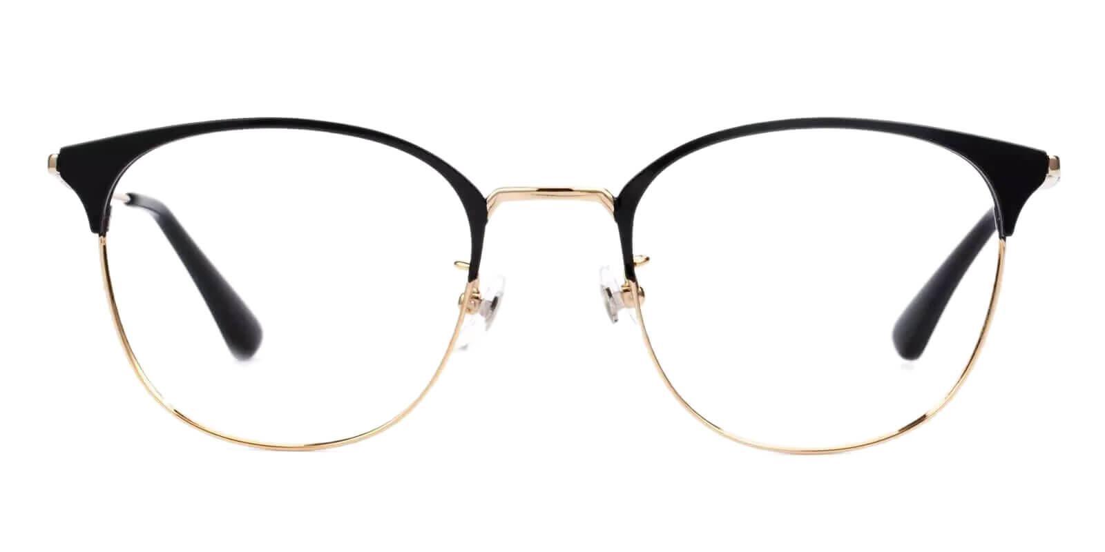 Delilah Gold Titanium Eyeglasses , Lightweight , NosePads Frames from ABBE Glasses