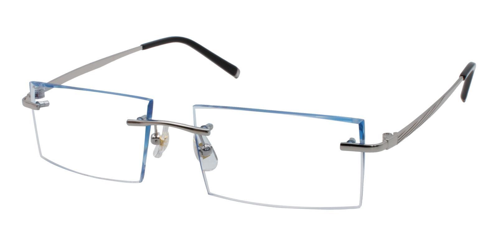 Josiah Blue Titanium NosePads , Eyeglasses Frames from ABBE Glasses
