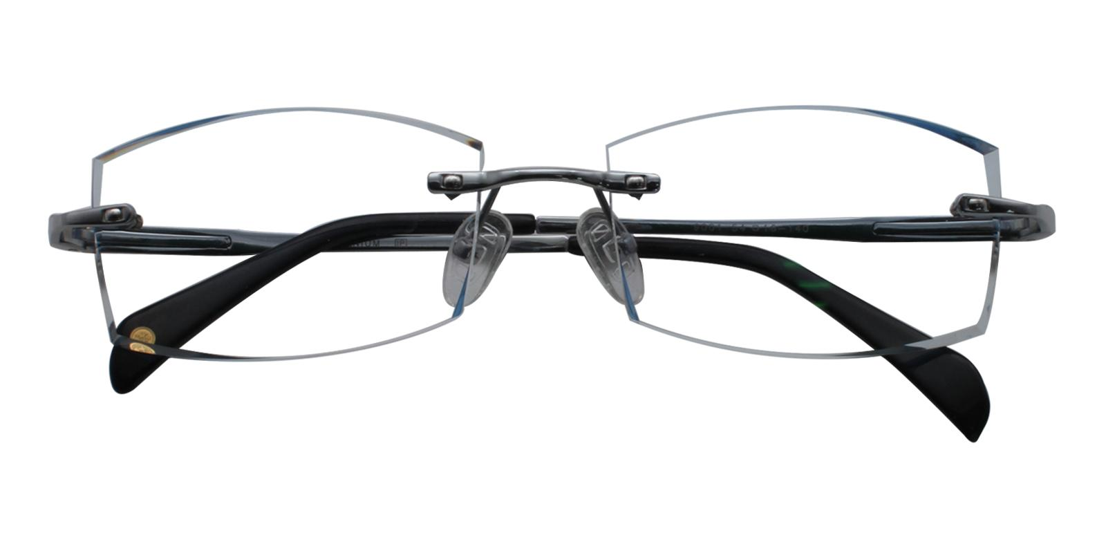 Adam Blue Titanium Eyeglasses , NosePads Frames from ABBE Glasses