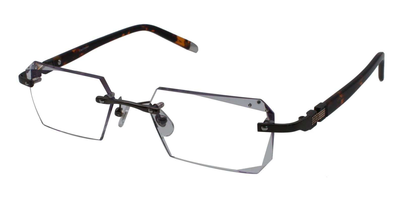 Somalia Gray Titanium NosePads , Eyeglasses Frames from ABBE Glasses