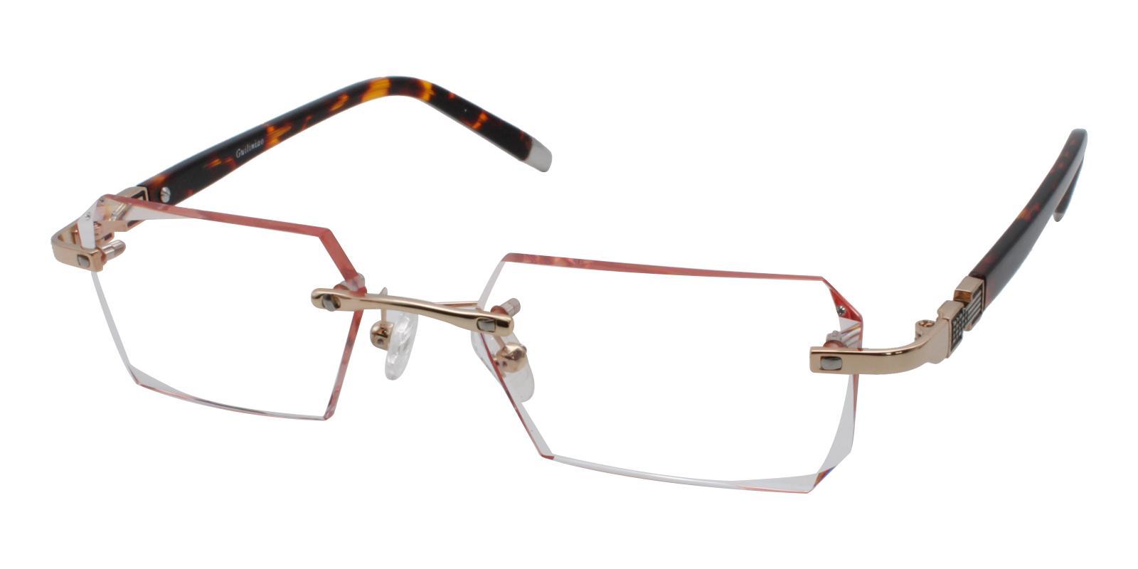 Somalia Orange Titanium NosePads , Eyeglasses Frames from ABBE Glasses