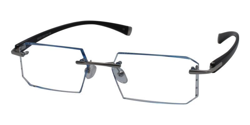 Blue Lincoln - Titanium Eyeglasses , NosePads