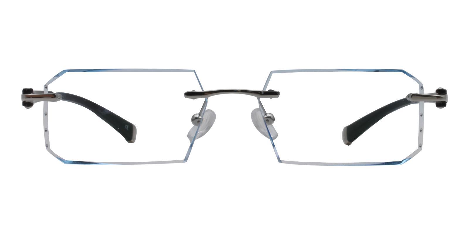 Lincoln Blue Titanium Eyeglasses , NosePads Frames from ABBE Glasses