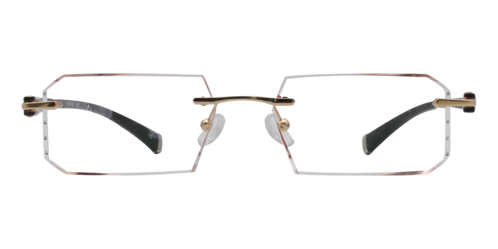 Julia Orange Titanium Eyeglasses , NosePads Frames from ABBE Glasses