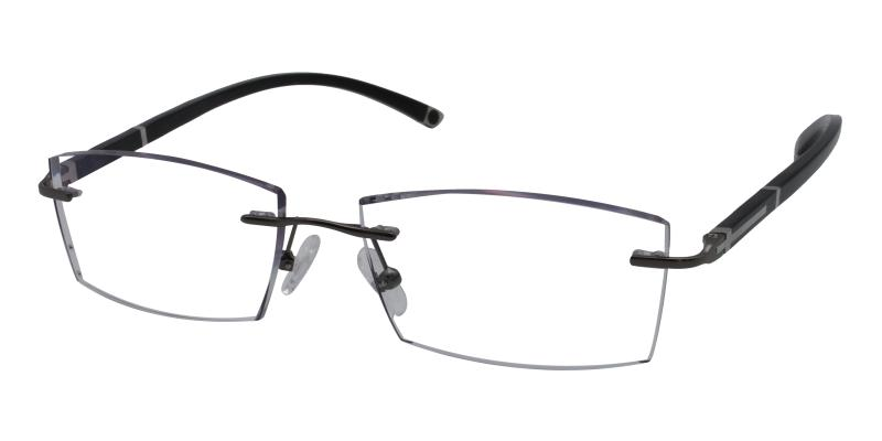 Gray John - Titanium Eyeglasses , NosePads