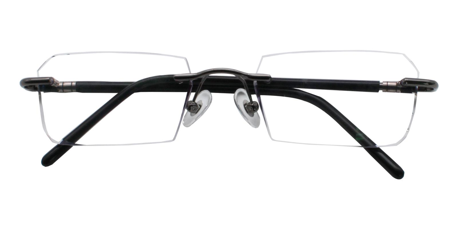 Asher Black Titanium NosePads , Eyeglasses Frames from ABBE Glasses