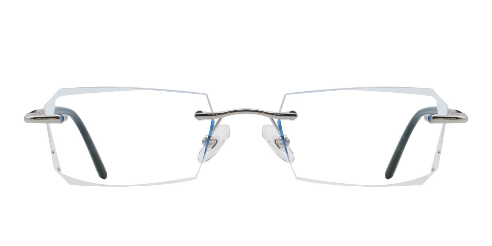 Asher Blue Titanium NosePads , Eyeglasses Frames from ABBE Glasses