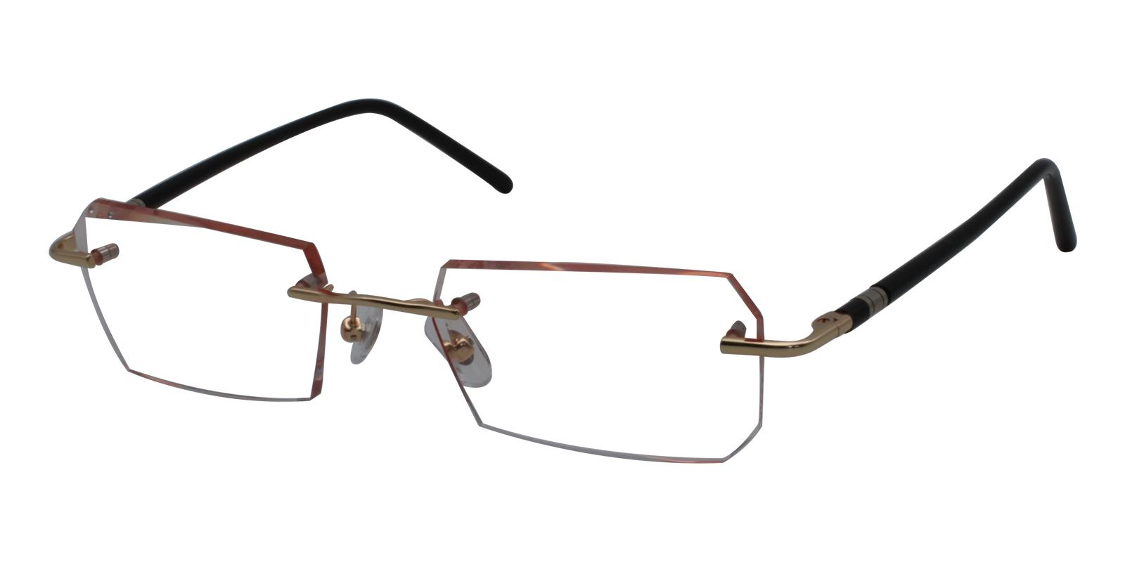 Asher Orange Titanium NosePads , Eyeglasses Frames from ABBE Glasses