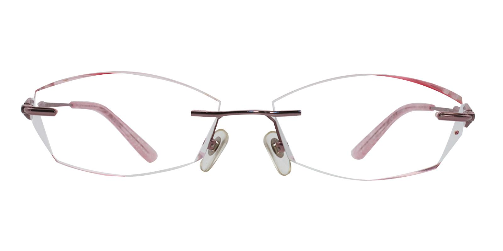 Clara Pink Titanium NosePads , Eyeglasses Frames from ABBE Glasses