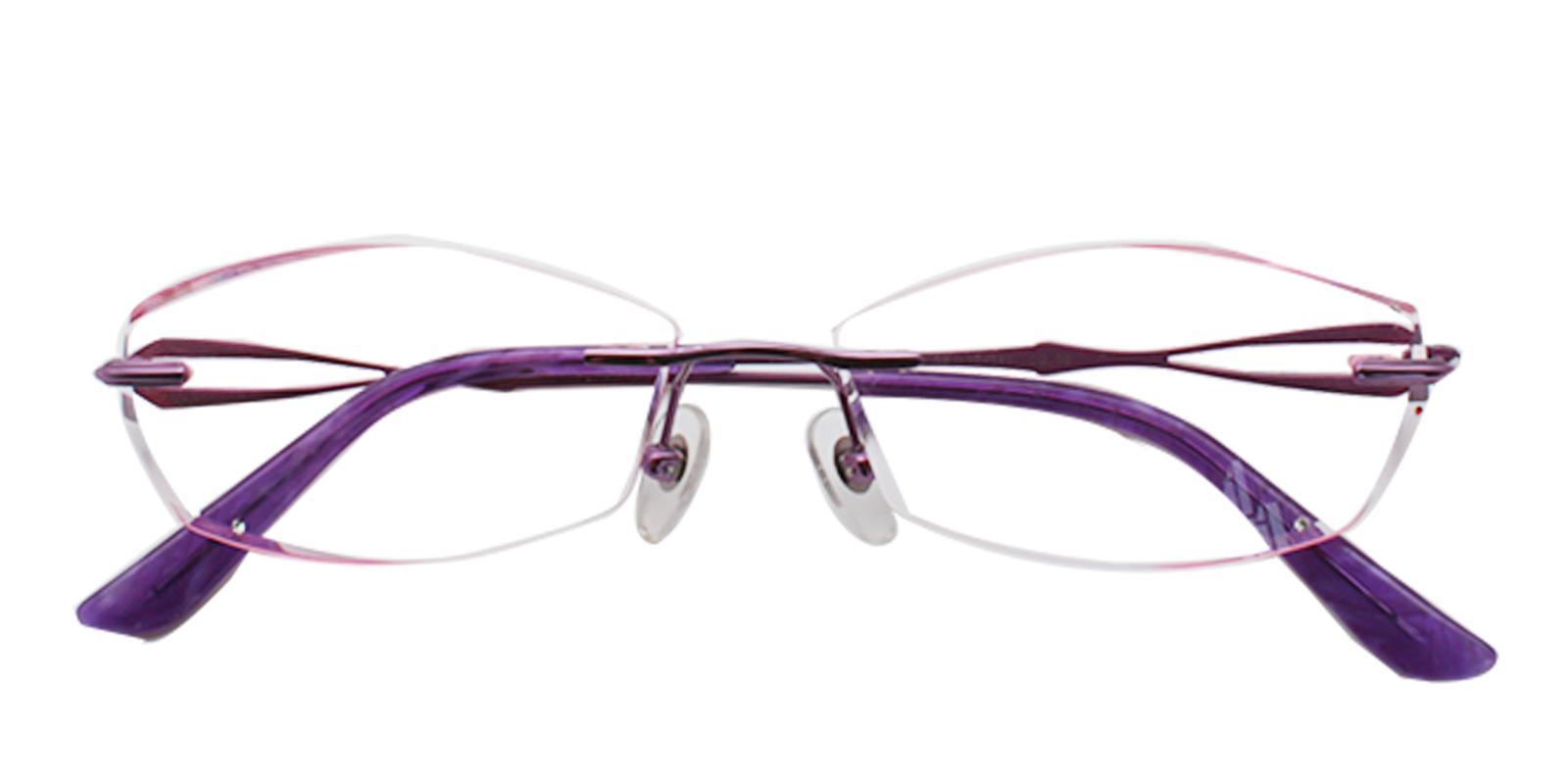 Clara Purple Titanium NosePads , Eyeglasses Frames from ABBE Glasses