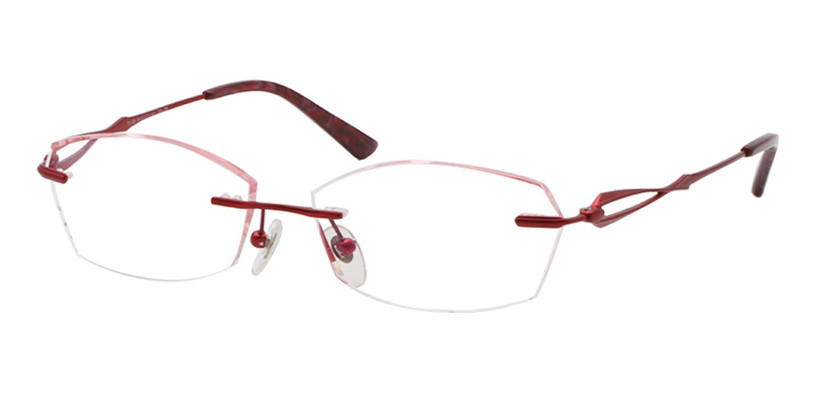 Clara Red Titanium NosePads , Eyeglasses Frames from ABBE Glasses