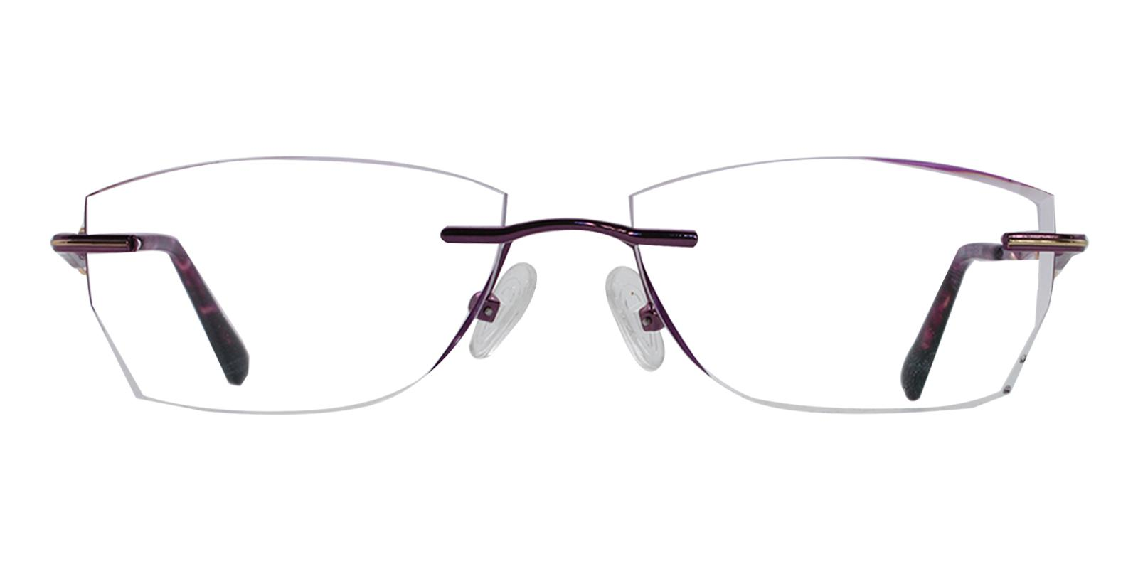 Sadie Purple Titanium Eyeglasses , NosePads Frames from ABBE Glasses