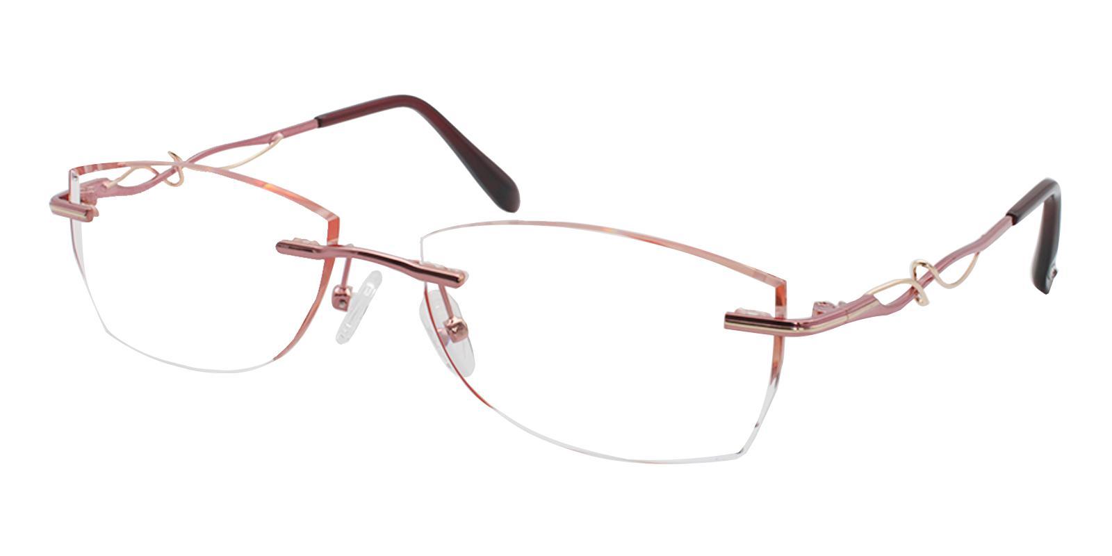 Sadie Red Titanium Eyeglasses , NosePads Frames from ABBE Glasses