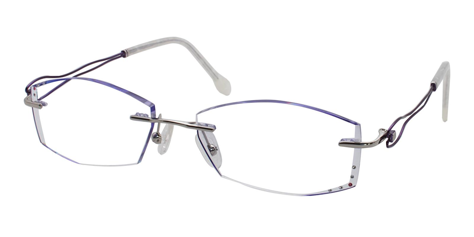 Leilani Purple Titanium Eyeglasses , NosePads Frames from ABBE Glasses