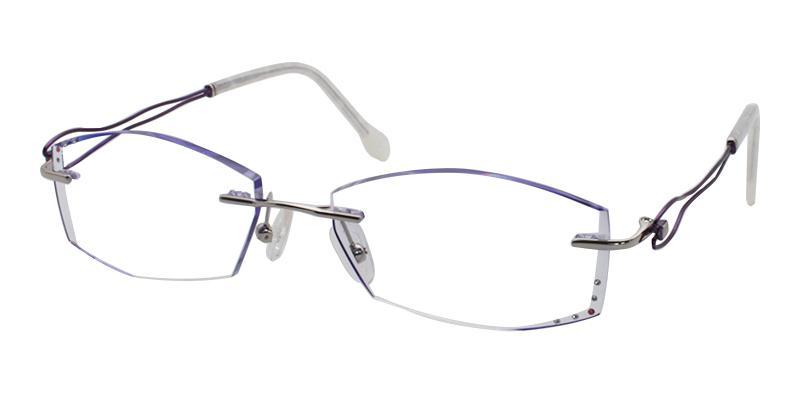 Purple Leilani - Titanium Eyeglasses , NosePads