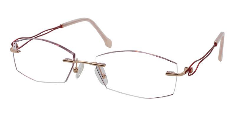 Leilani - Titanium Eyeglasses , NosePads