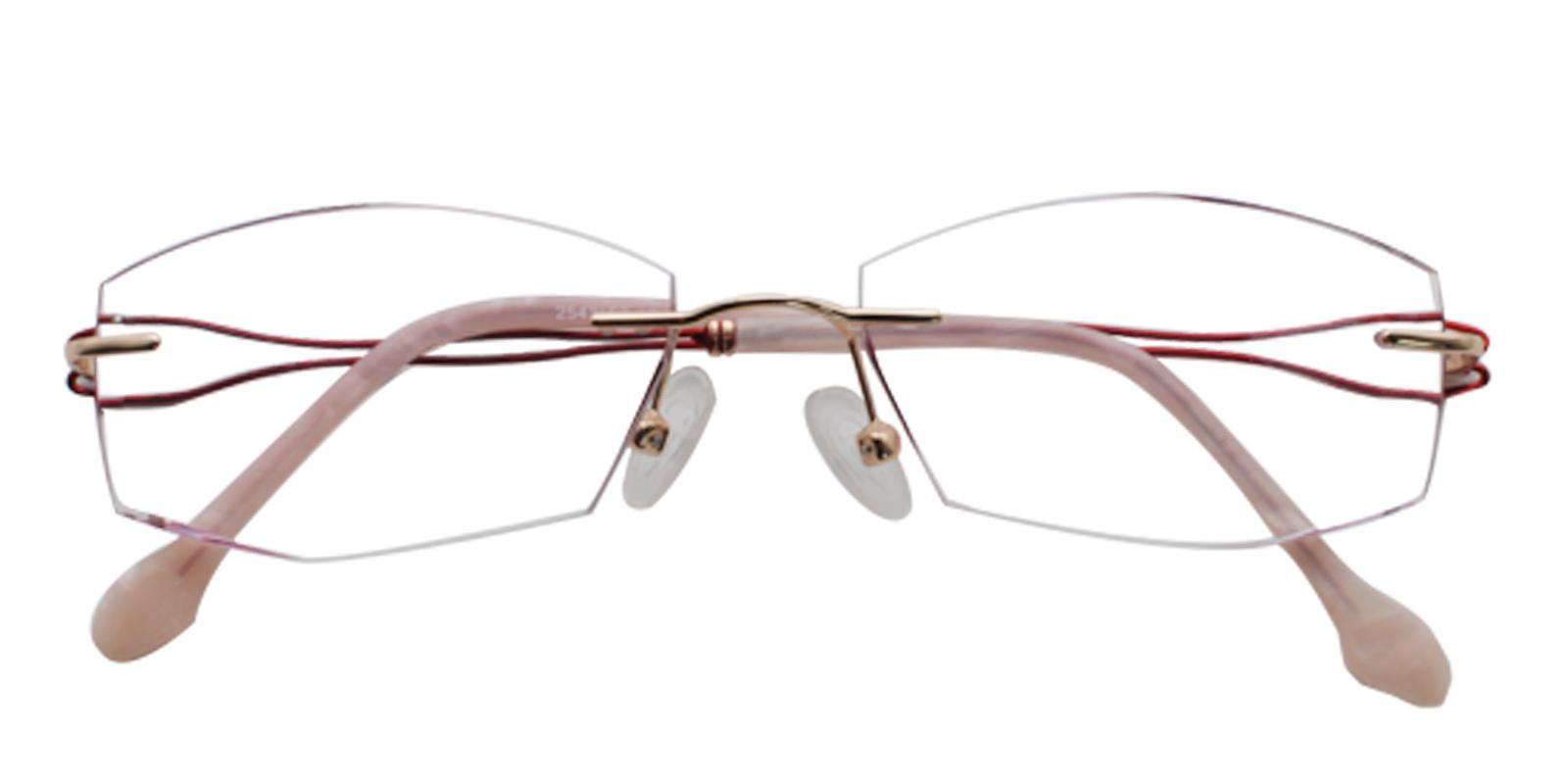 Leilani Red Titanium Eyeglasses , NosePads Frames from ABBE Glasses