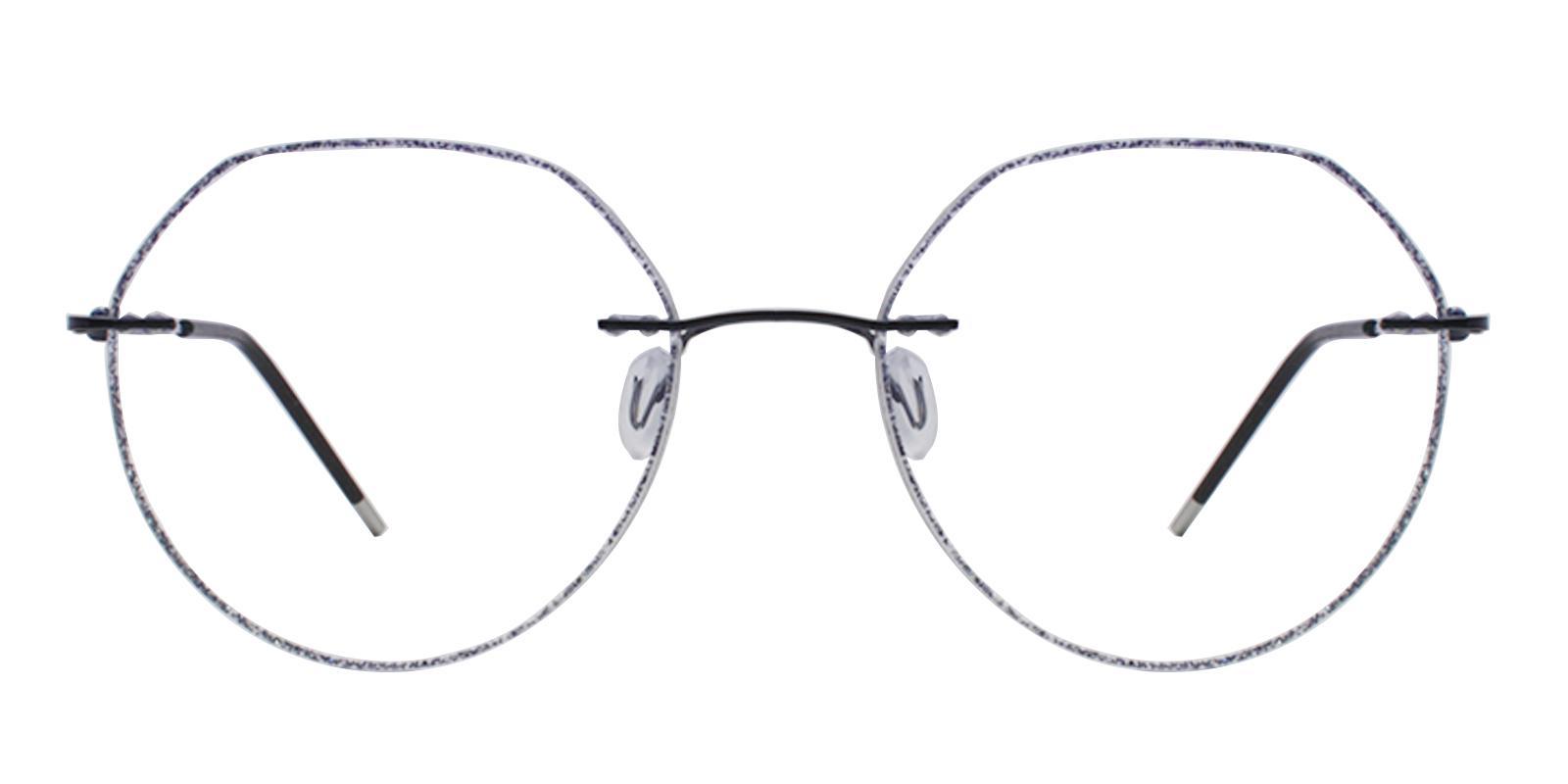 Piper Black Titanium Eyeglasses , NosePads Frames from ABBE Glasses