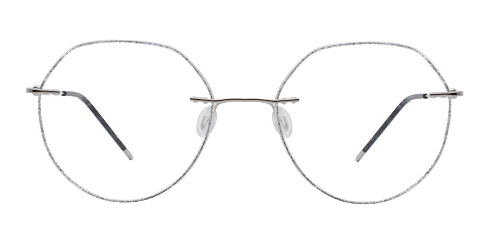Piper Silver Titanium Eyeglasses , NosePads Frames from ABBE Glasses