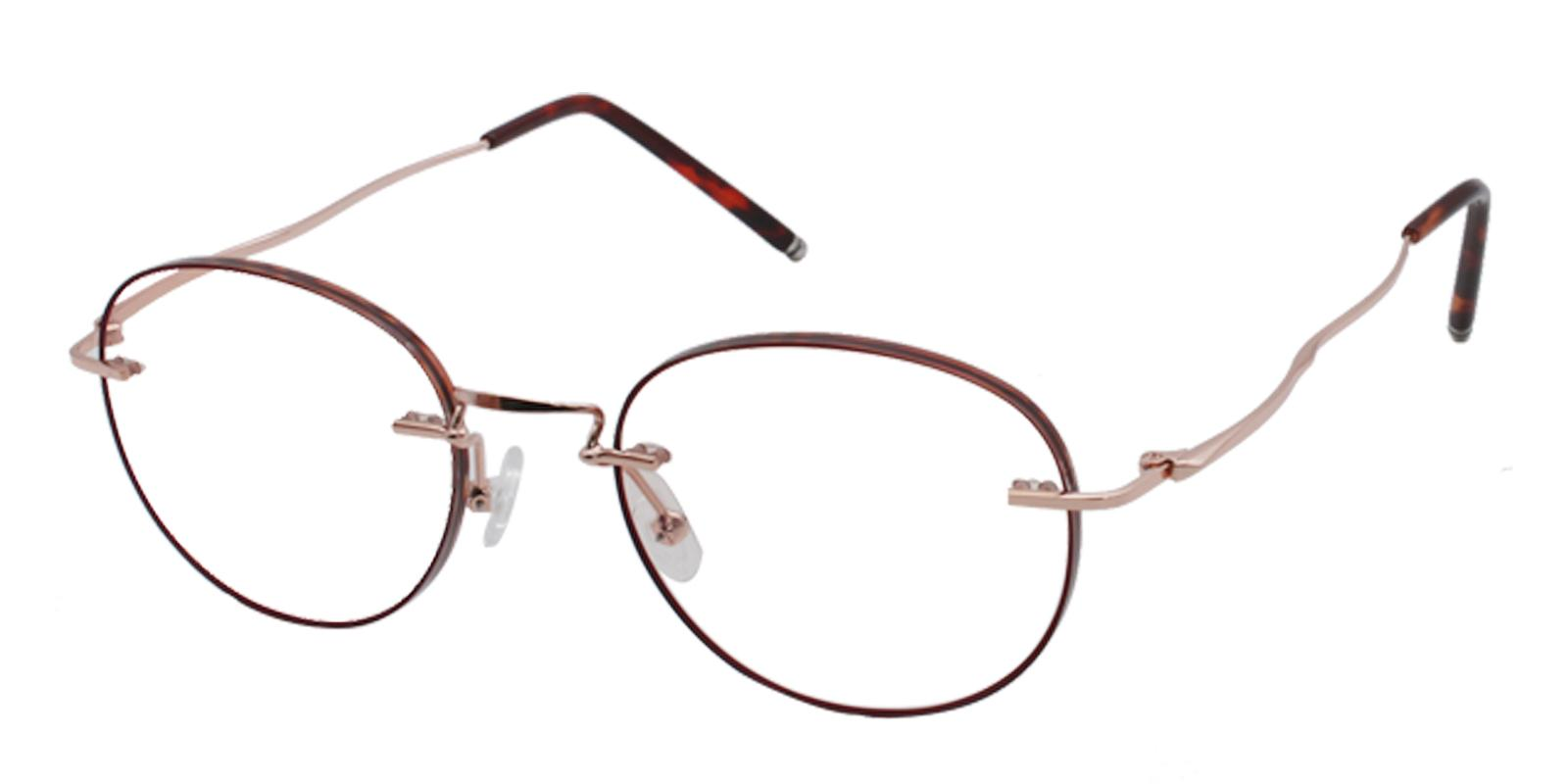 Jade Red Titanium Eyeglasses , NosePads Frames from ABBE Glasses