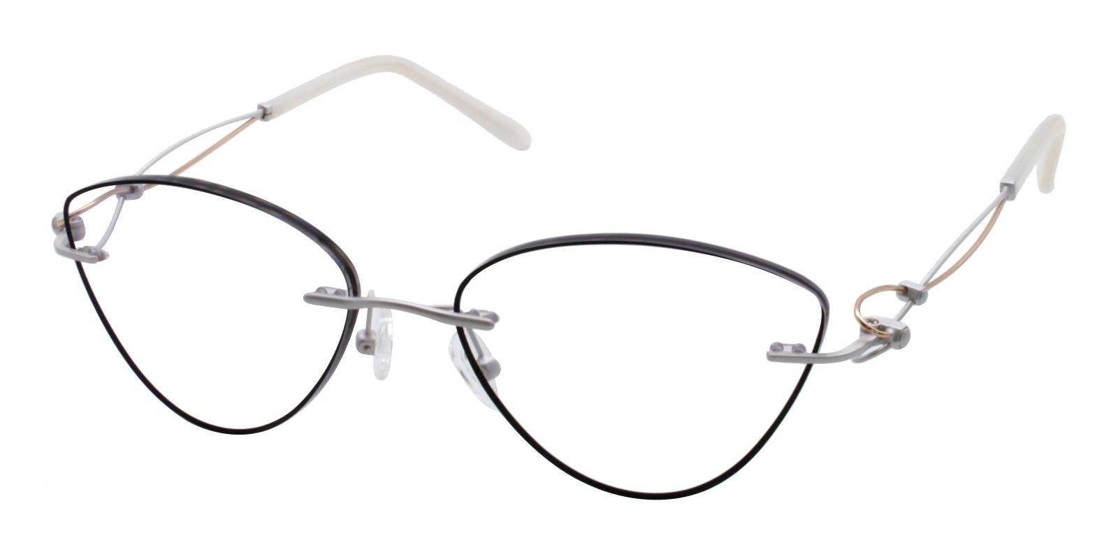 Kaylee Black Titanium NosePads , Eyeglasses Frames from ABBE Glasses
