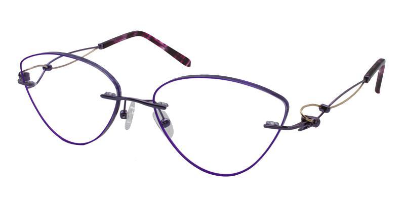 Purple Kaylee - Titanium NosePads , Eyeglasses