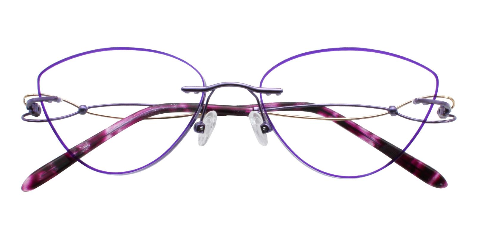 Kaylee Purple Titanium NosePads , Eyeglasses Frames from ABBE Glasses