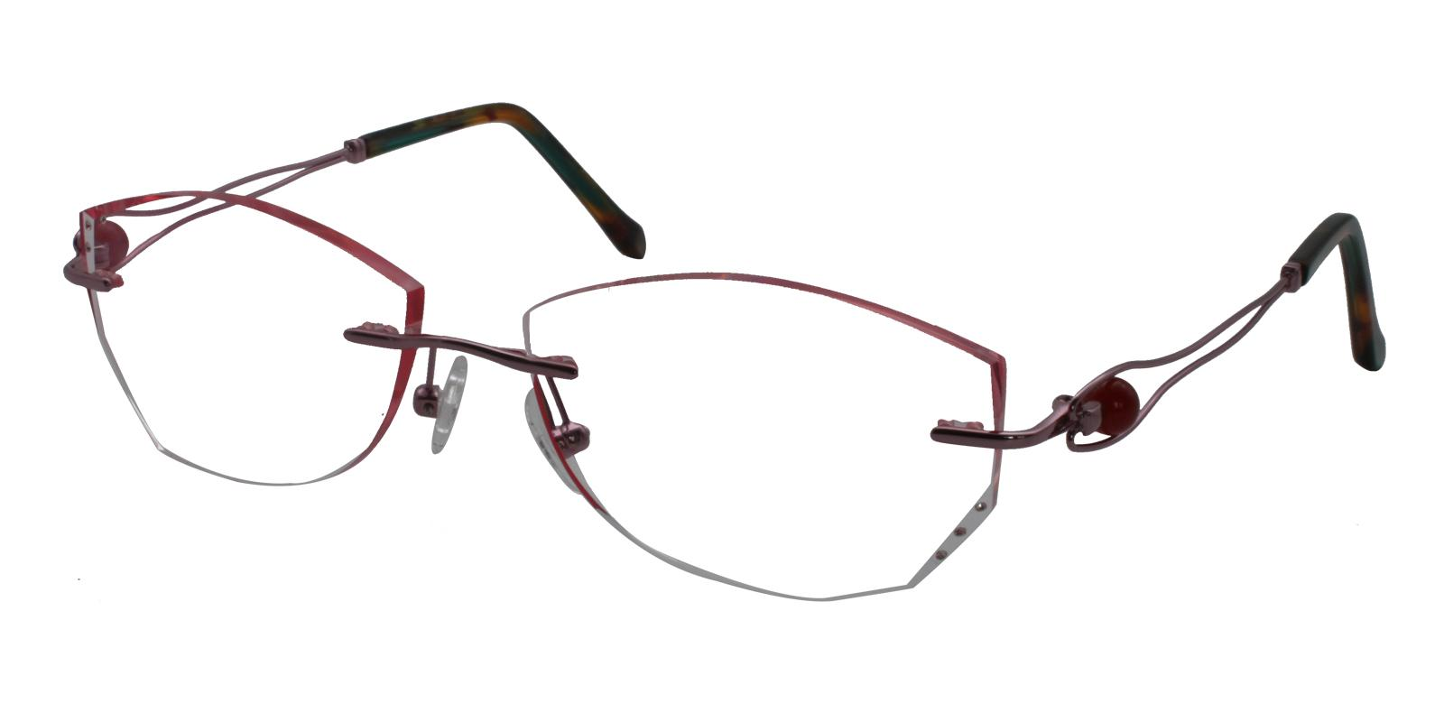 Liliana Pink Titanium Eyeglasses , NosePads Frames from ABBE Glasses