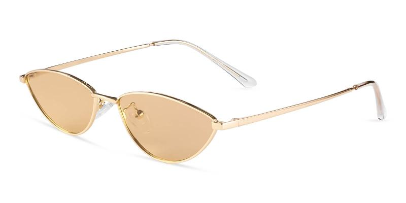 Gold Echo - Metal Lightweight , NosePads , Sunglasses