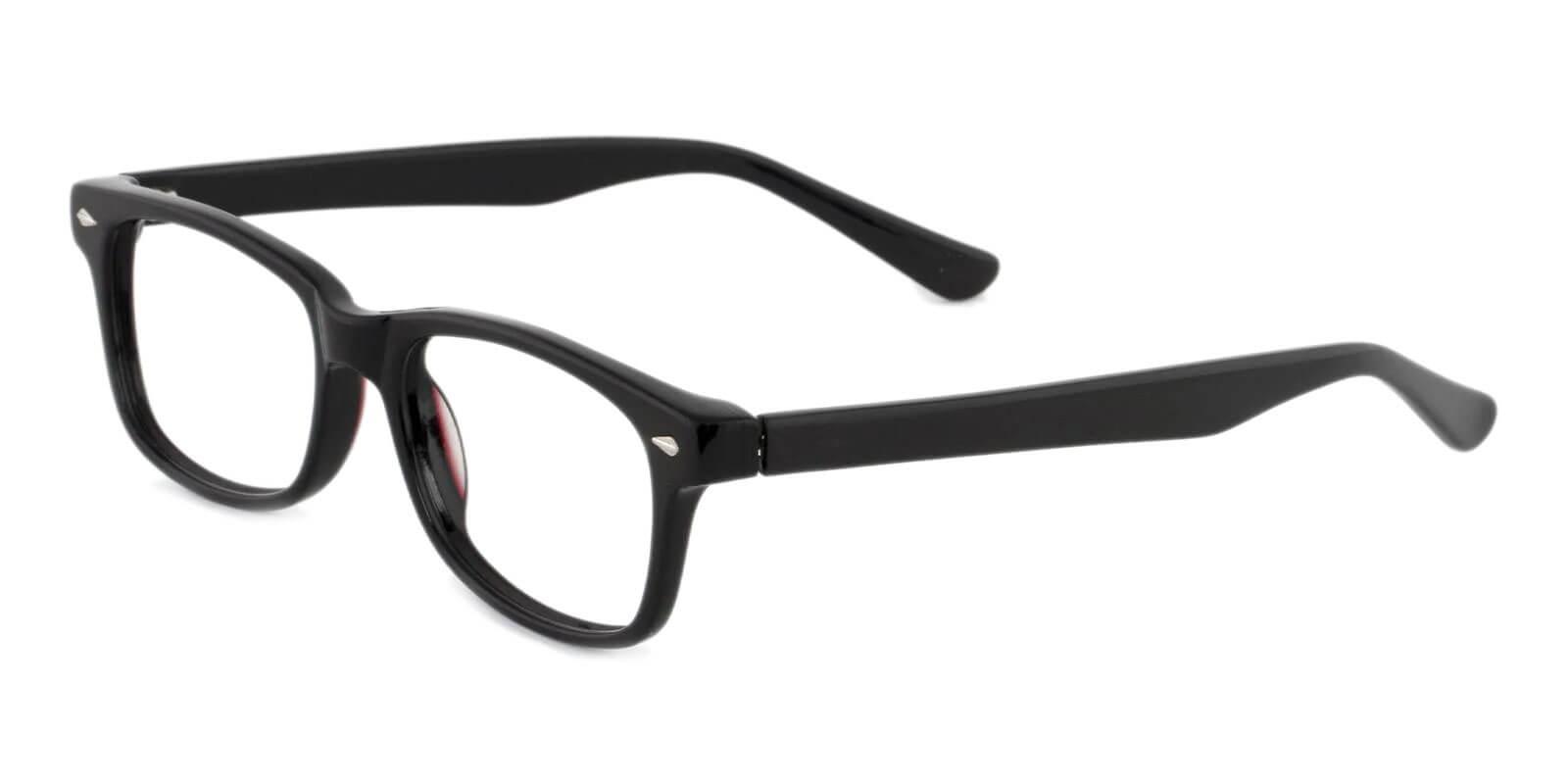 Wisdom Black Acetate UniversalBridgeFit , Eyeglasses Frames from ABBE Glasses