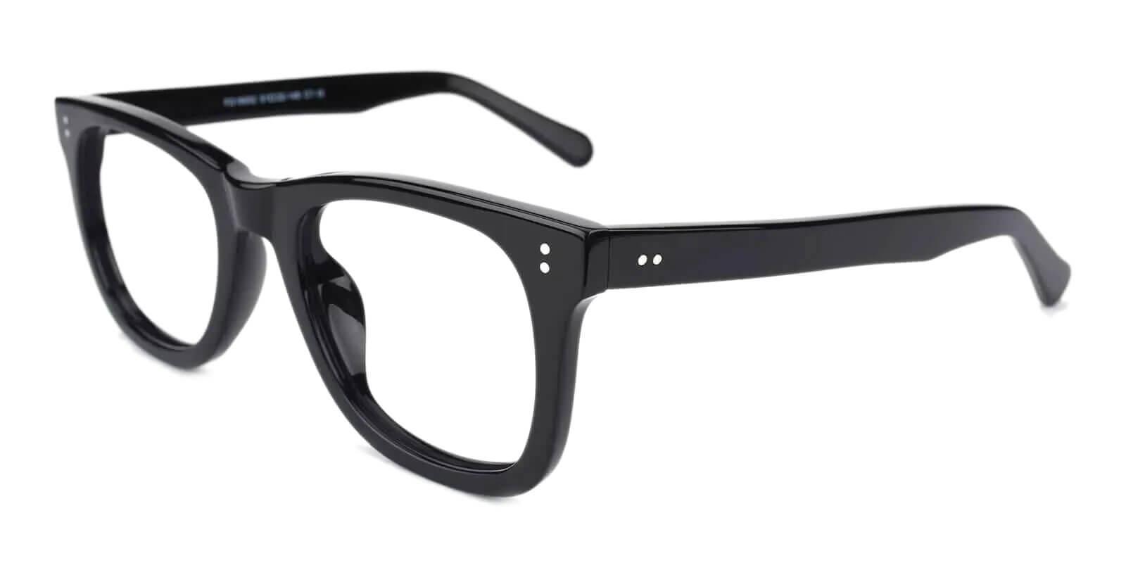 Dean Black Acetate Eyeglasses , UniversalBridgeFit Frames from ABBE Glasses