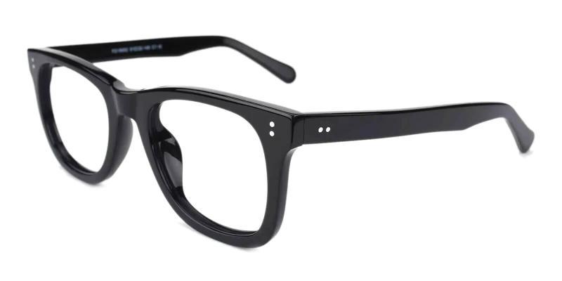 Black Dean - Acetate Eyeglasses , UniversalBridgeFit
