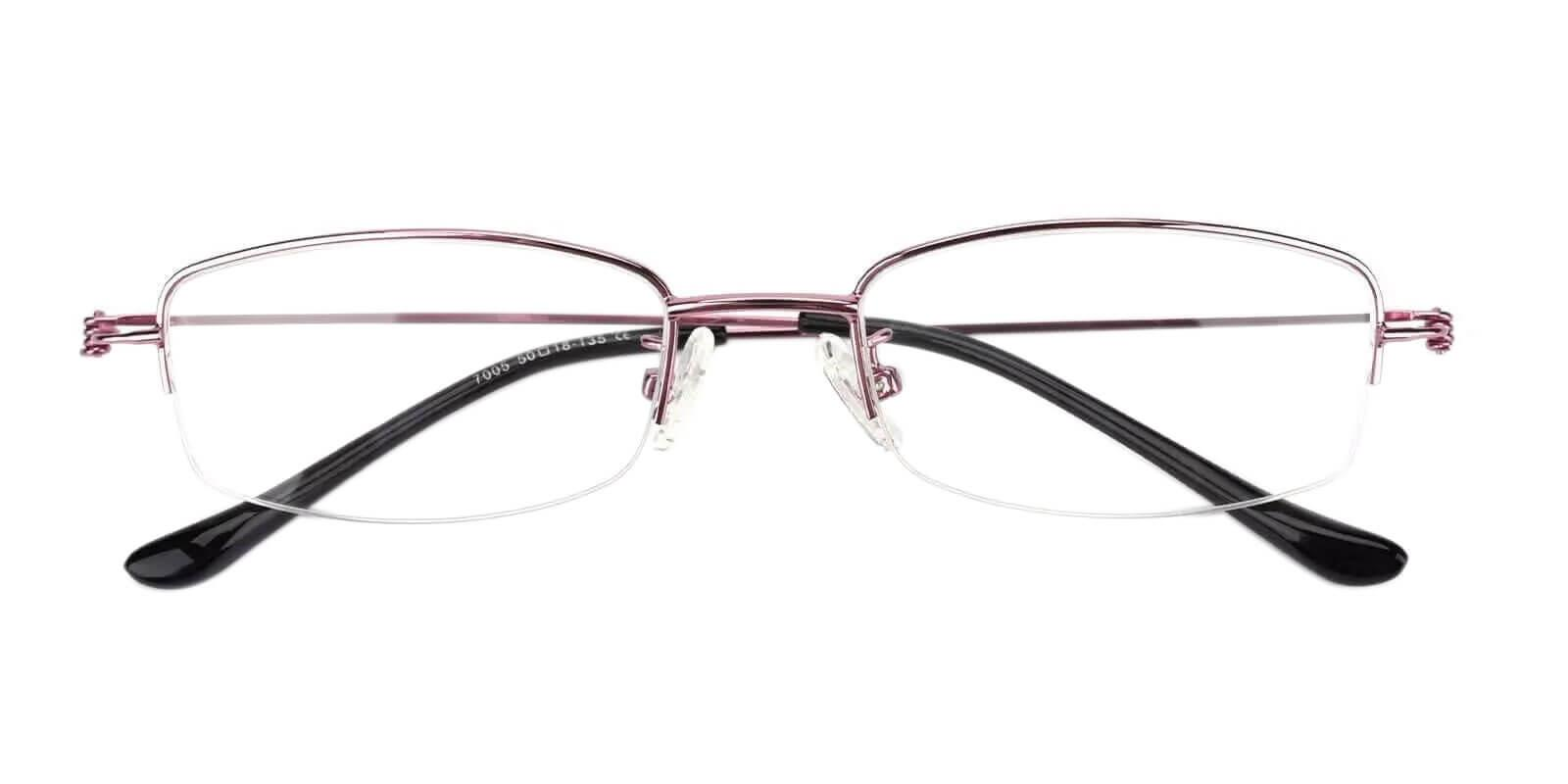 Amanda Pink Metal Eyeglasses , NosePads Frames from ABBE Glasses
