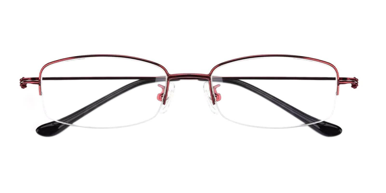 Amanda Red Metal Eyeglasses , NosePads Frames from ABBE Glasses