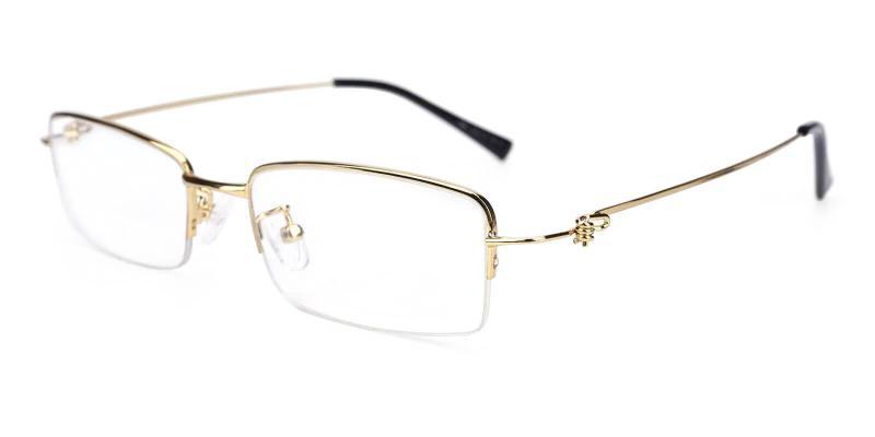 Gold Chris - Metal Eyeglasses , NosePads