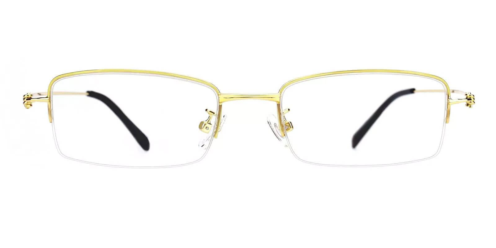 Chris Gold Metal Eyeglasses , NosePads Frames from ABBE Glasses