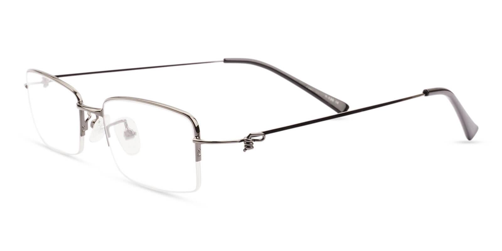 Chris Gun Metal Eyeglasses , NosePads Frames from ABBE Glasses