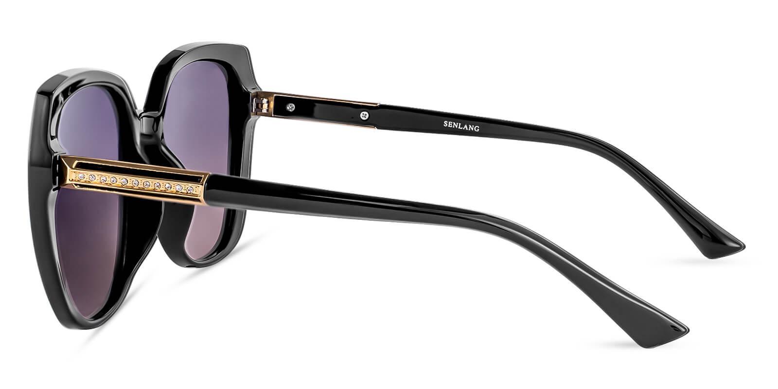 Hecaba Black TR Sunglasses , UniversalBridgeFit Frames from ABBE Glasses