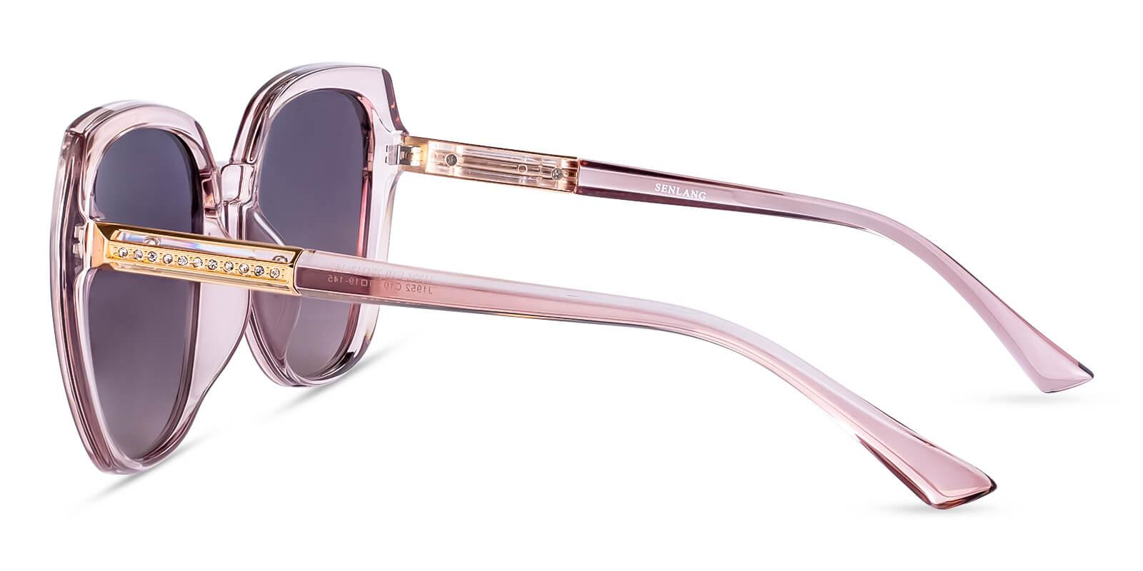 Hecaba Pink TR Sunglasses , UniversalBridgeFit Frames from ABBE Glasses