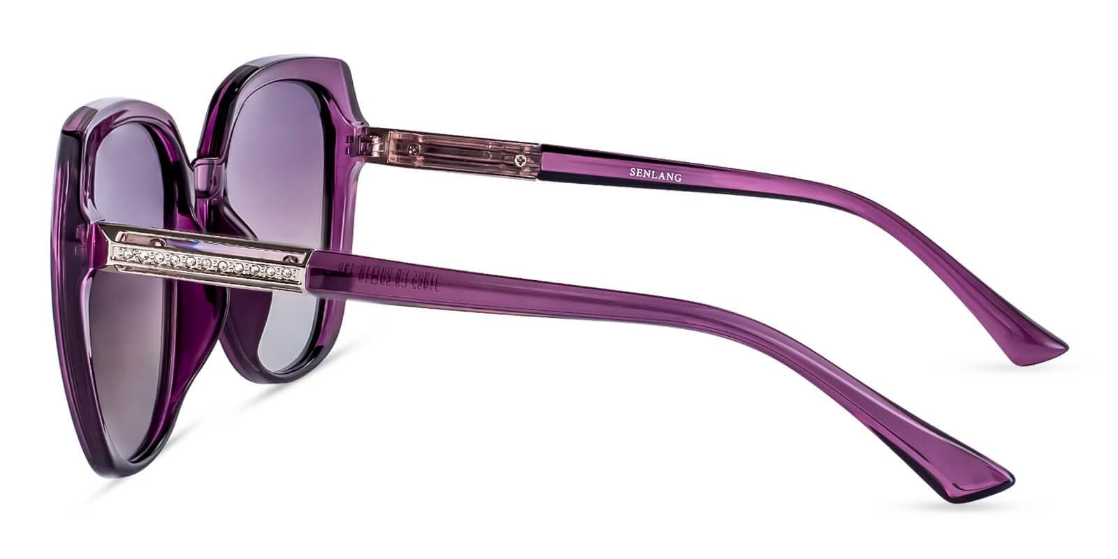 Hecaba Purple TR Sunglasses , UniversalBridgeFit Frames from ABBE Glasses
