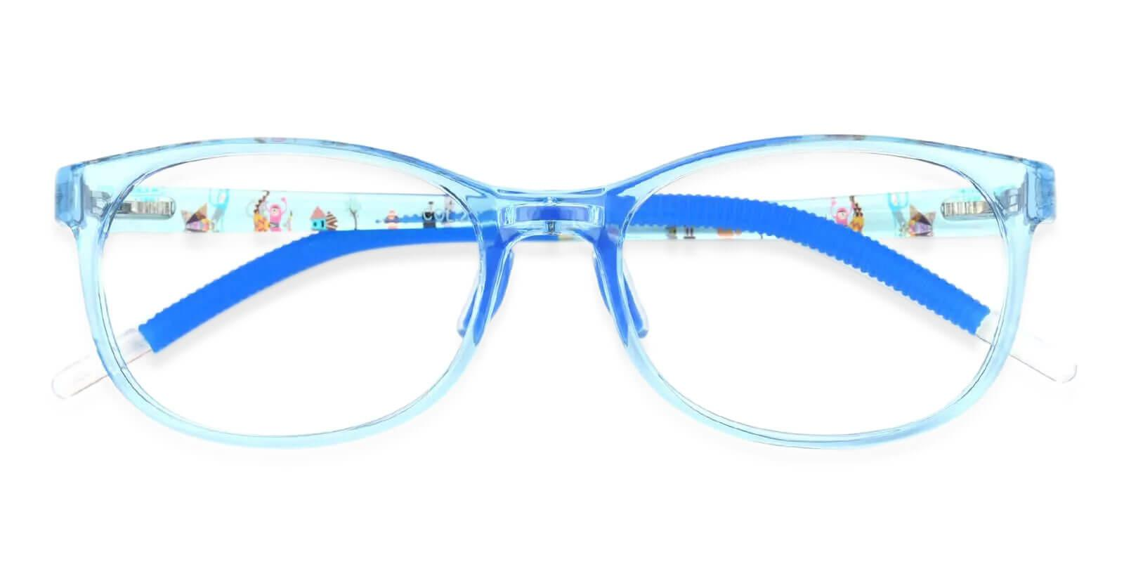 Kids-Via Blue Acetate Eyeglasses , UniversalBridgeFit Frames from ABBE Glasses