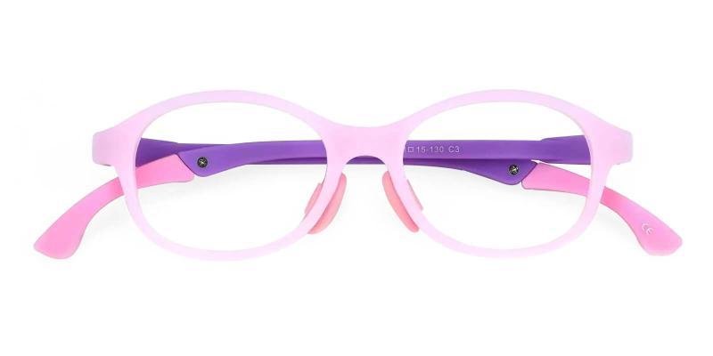 Pink Kids-Star - TR Eyeglasses , UniversalBridgeFit
