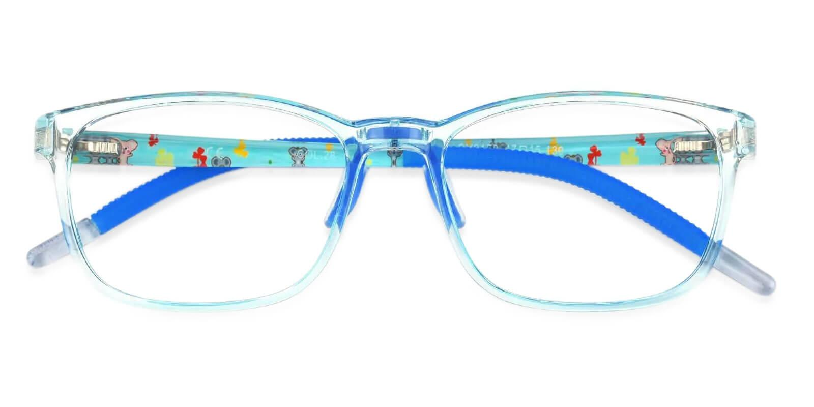 Sparkle Blue Acetate , TR Eyeglasses , Lightweight , NosePads , UniversalBridgeFit Frames from ABBE Glasses
