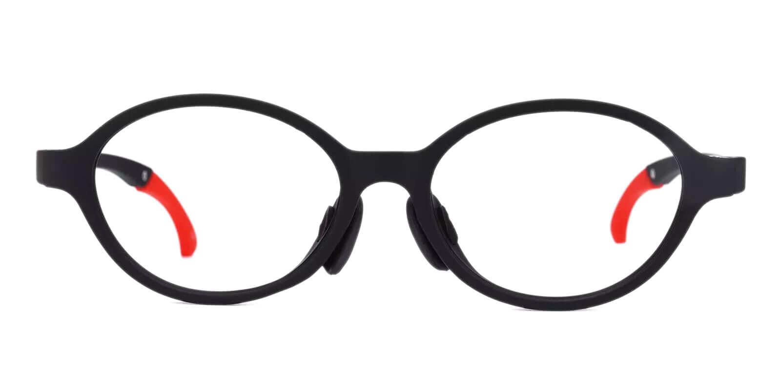 Outstand Black TR Eyeglasses , Lightweight , NosePads Frames from ABBE Glasses