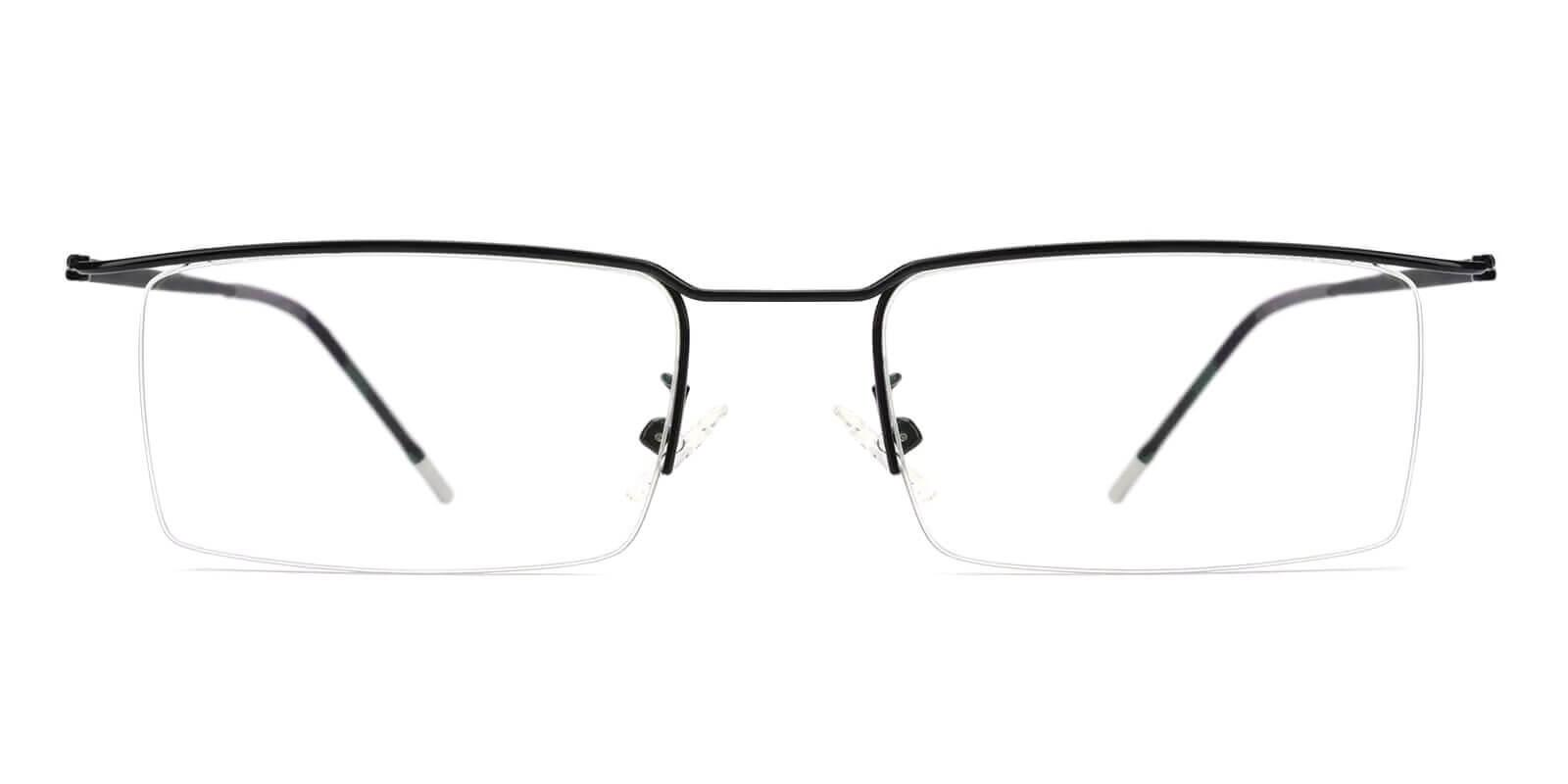 Wit Black Metal Eyeglasses , NosePads Frames from ABBE Glasses